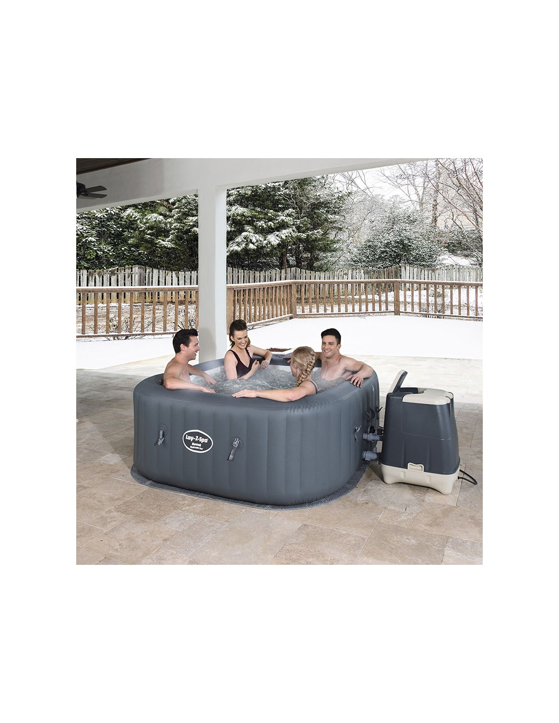 Installer Spa Gonflable Exterieur spa gonflable bestway hawaii hydrojet pro